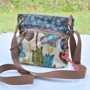 Fossil key-per cross body bag